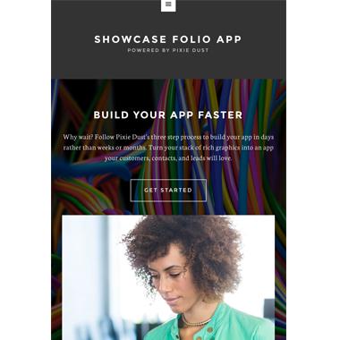 Showcase Folio App Template Project