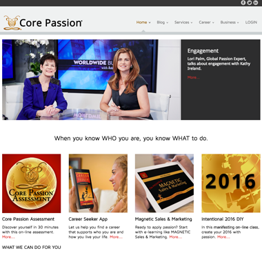Home of Core Passion website
